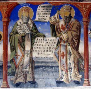 Фреска на наружной стене собора Бигорского монастыря (Македония), 2-ая половина XIX в.